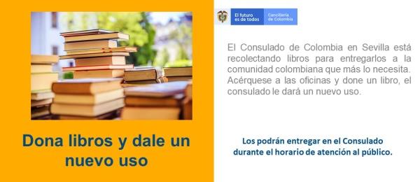 Consulado de Colombia en Sevilla invita a los connacionales a donar libros