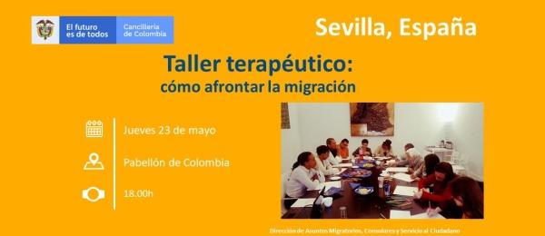 Consulado de Colombia en Sevilla invita al Taller terapéutico: cómo afrontar la migración el 23 de mayo