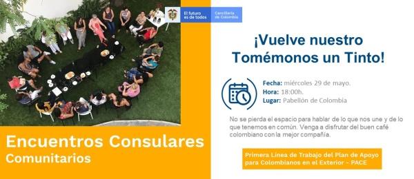 El 29 de mayo se realizará el Encuentro Consular Comunitario en la sede del Consulado de Colombia